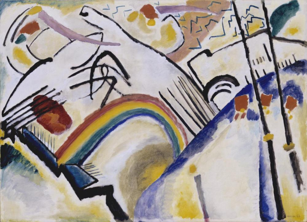 Cossacks 1910-1 by Wassily Kandinsky 1866-1944